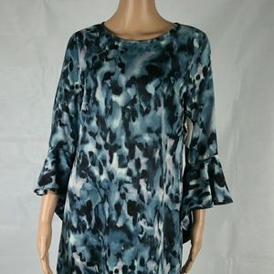 Bar lll small Melbourne teal bell sleeve dress